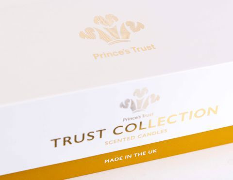 Gold foiled logo on rigid box